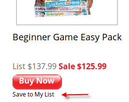 Save to My List Example