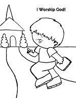 I worship God coloring poster free