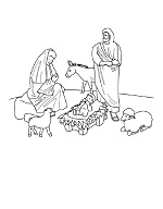 nativity free coloring page