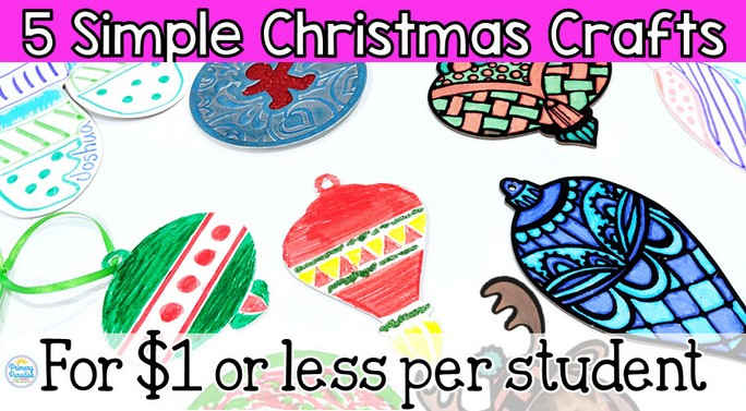 cheap classroom crafts for christmas
