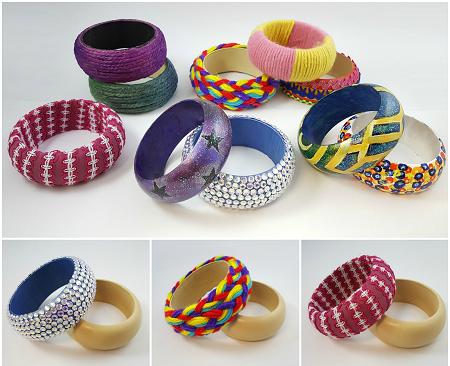 Wooden Bangle Bracelet Craft