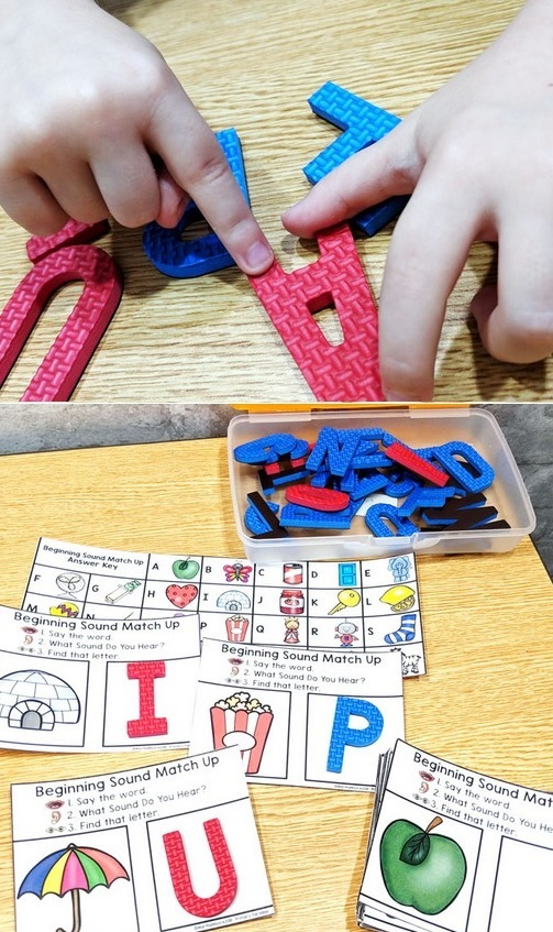 foam letters for learning