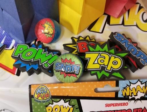 superhero party gift bag