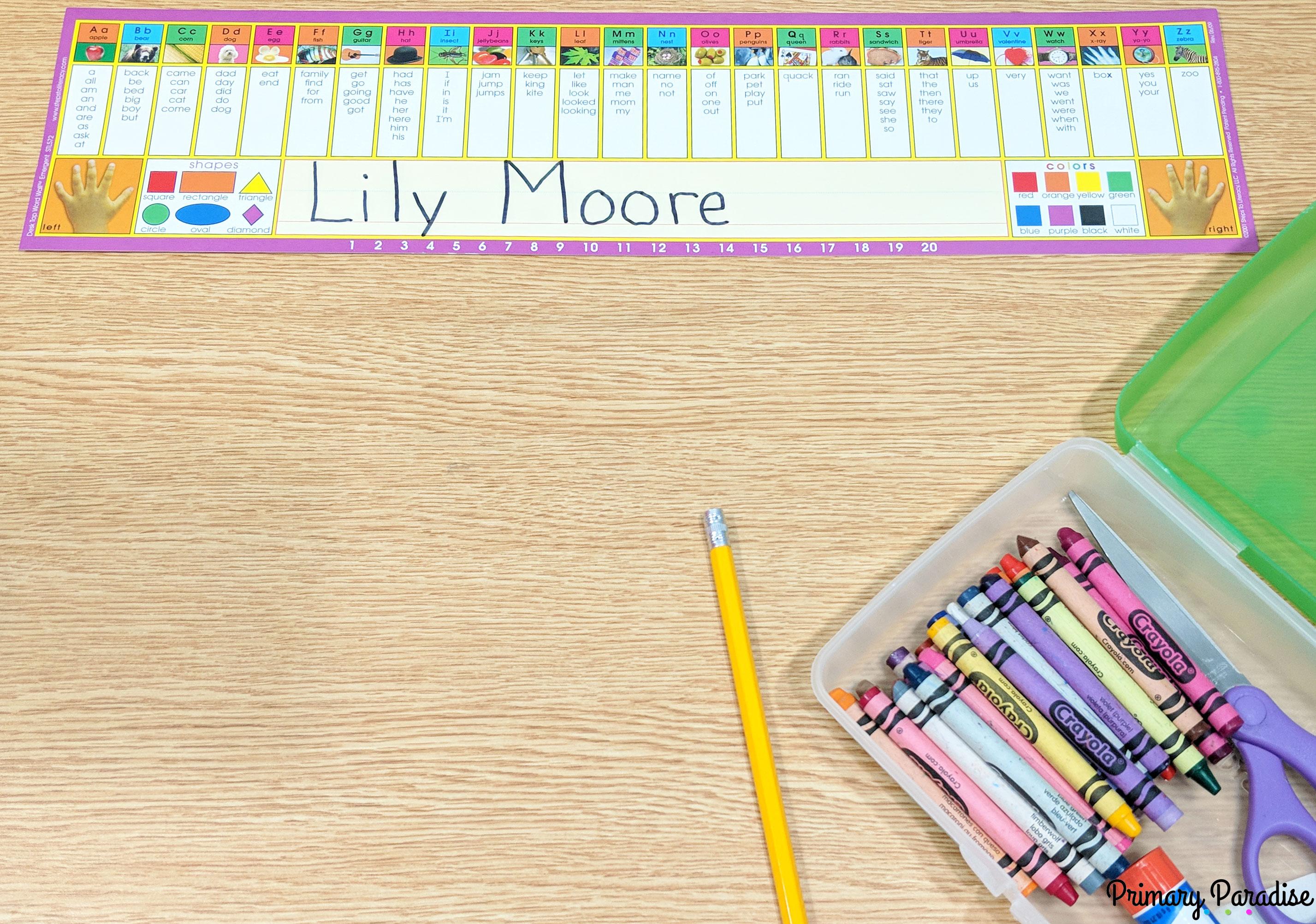 desktop word walls for classroom