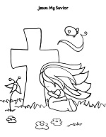 jesus my savior coloring poster