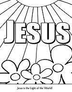 jesus light of the world coloring poster