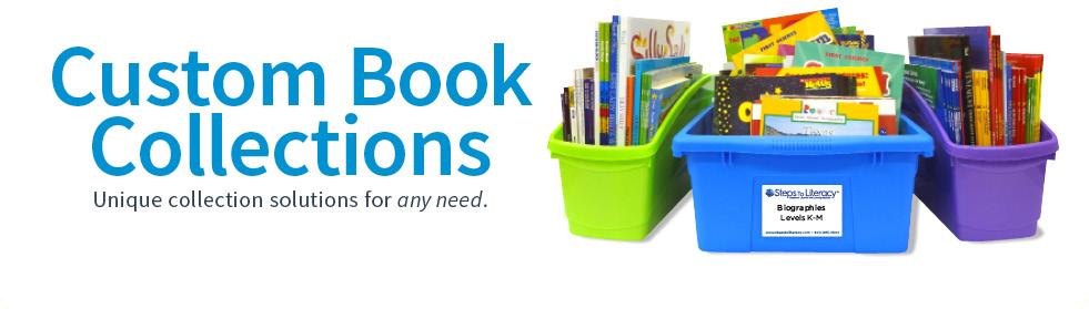 classroom library books and bins